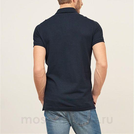 4f3532b6bb15f94 Moscow USA предлагает вам купить поло Abercrombie Fitch темно-синего цвета  с красным логотипом в